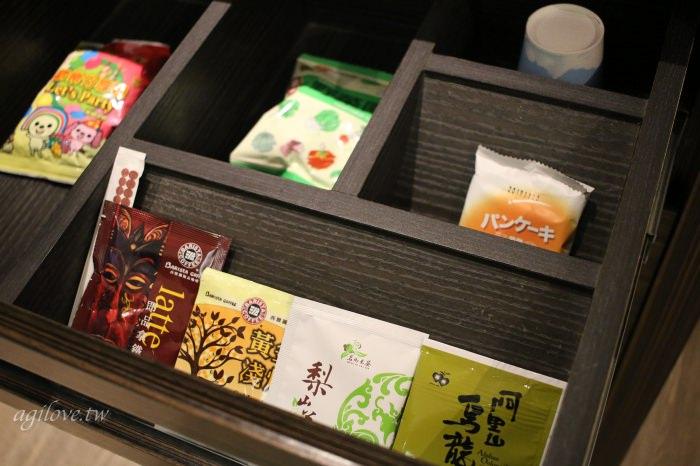 水雲端旗艦概念旅館-房間內免費的零食和茶包